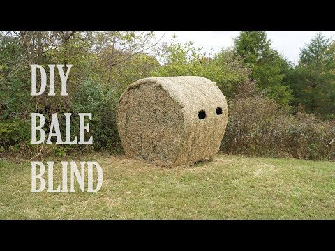 HOW TO BUILD A DIY HAY BALE BLIND