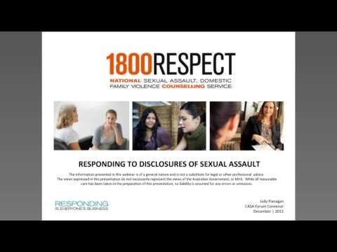 1800RESPECT - Responding to disclosures of sexual assault