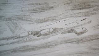 Flugzeug zeichnen - how to draw a Plane - рисовать самолет