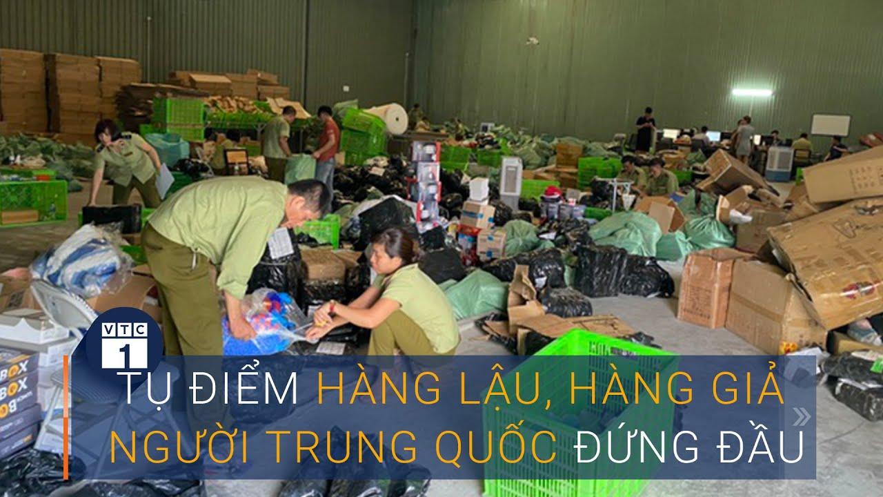 """Hà Nội: Truy quét tụ điểm hàng lậu """"khủng"""" do người Trung Quốc đứng đầu   VTC1"""