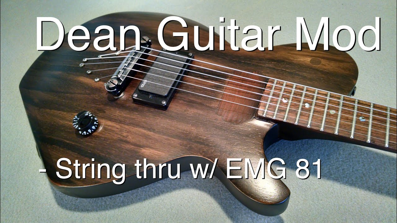 Dean guitar custom -DIY Guitar mod - YouTube