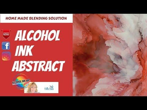 Alcohol Ink Blending Solution vs. Alcohol vs. Home Made Solution