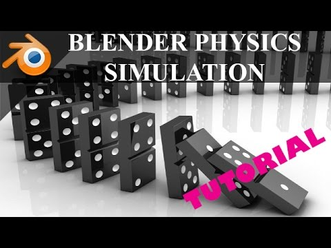 Blender physics simulations tutorial || Dominoes in blender || blender rigid body   physics