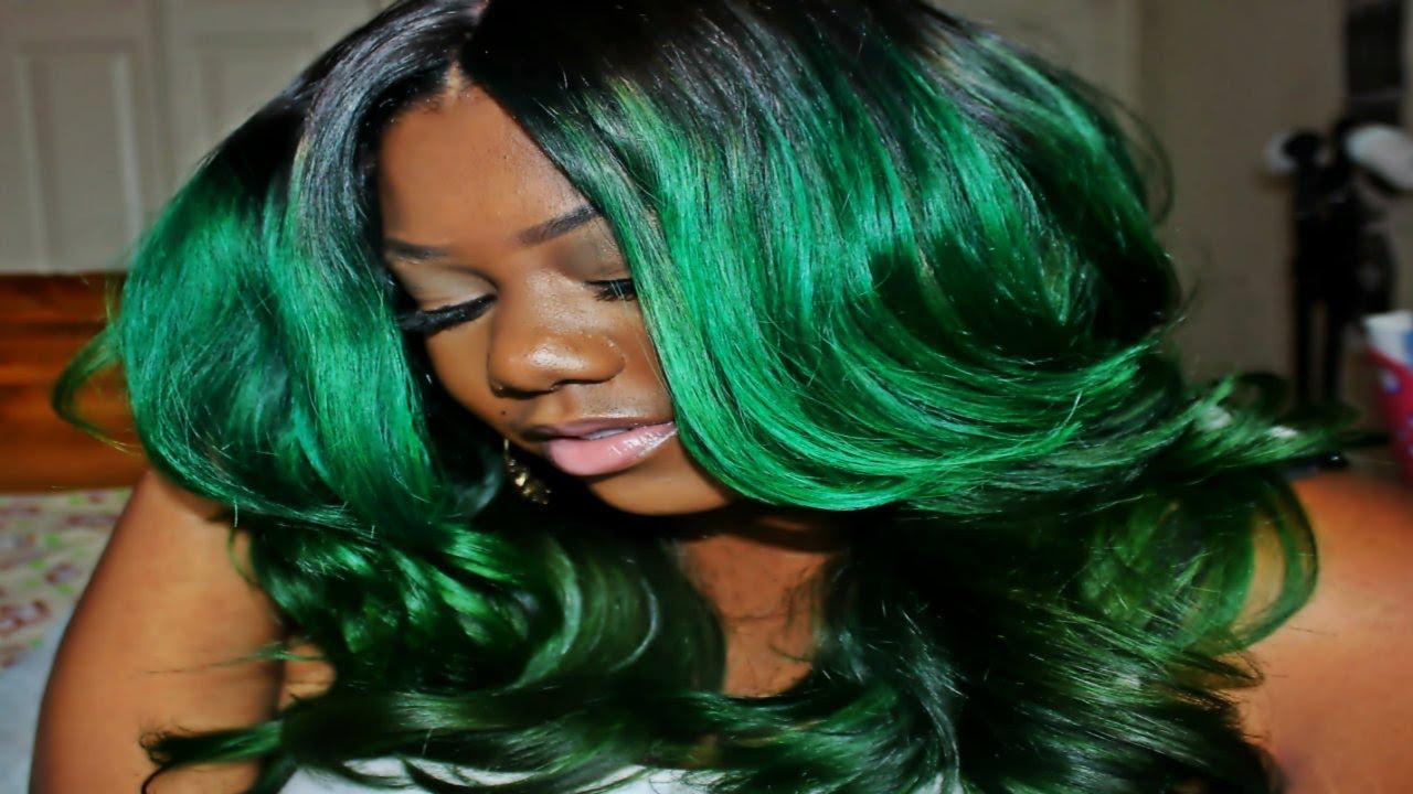 custom green hair coloring
