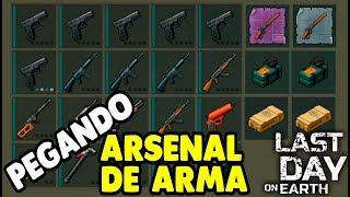 Pegando Arsenal de Armas - Last Day On Earth