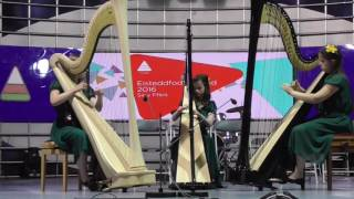 Urdd 2016 Telynorion Cwm Derwent ensemble years 7-9
