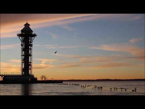 Bicentennial Tower and Frozen Bay  |  Erie PA