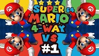 Super Mario 64: 4 Player Versus - Episode 1 (Feat. ProtonJon & NintendoCapriSun)