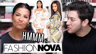 I LET MY MANNY MUA BUY MY OUTFITS FROM FASHION NOVA