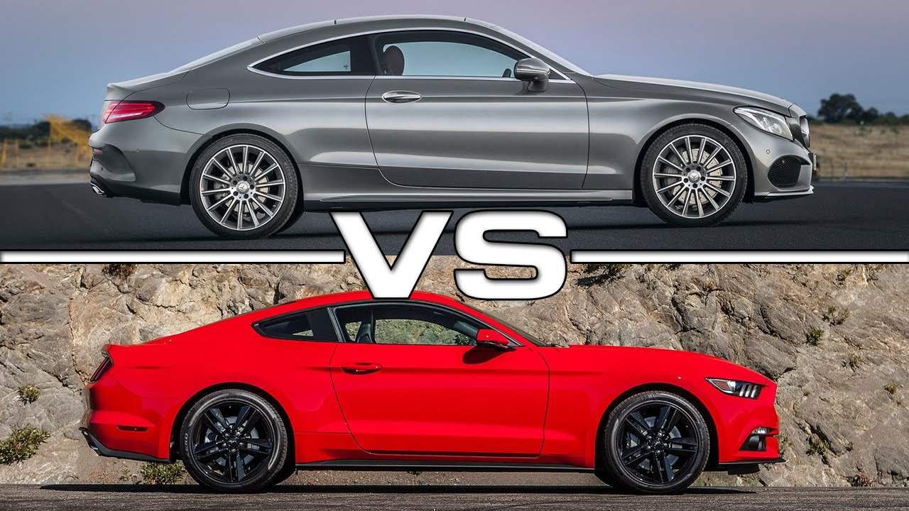 2017 Mercedes Benz C Cl Coupe Vs Ford Mustang Ecoboost