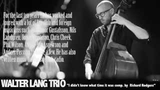 Walter Lang Trio TEASER THOMAS MARKUSSON