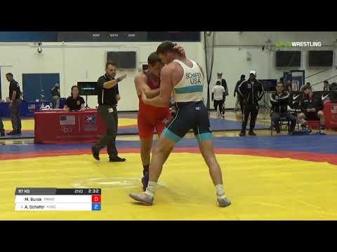 Greco-Roman 97 Quarter-Finals - Micah Burak (TMWC) vs. Austin Schafer (NYAC)