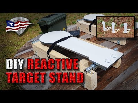 Build Your Own Reactive Target Stand / DIY Steel Popper Targets Cheap!