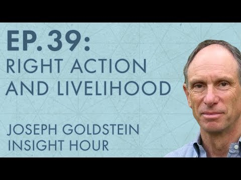 Joseph Goldstein – Insight Hour – Ep. 39 – The Eightfold Path: Right Action and Livelihood