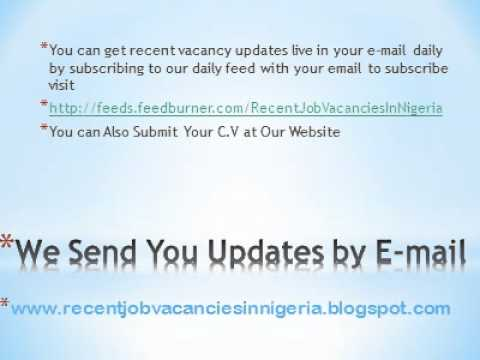 Vacancy in Nigeria (recentjobvacanciesinnigeria.blogspot.com).wmv
