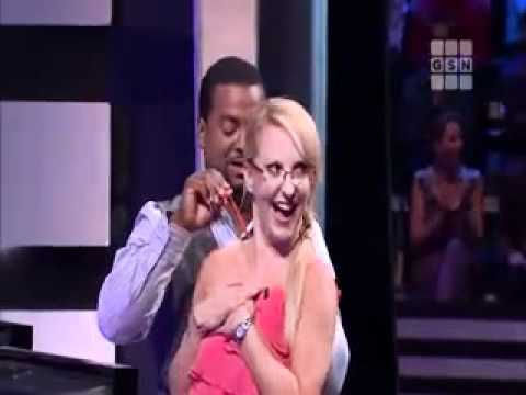 Catch 21, Wardrobe Malfunction as Girl Tries to Show Off for the Host, Nip Slip / Tit Slip