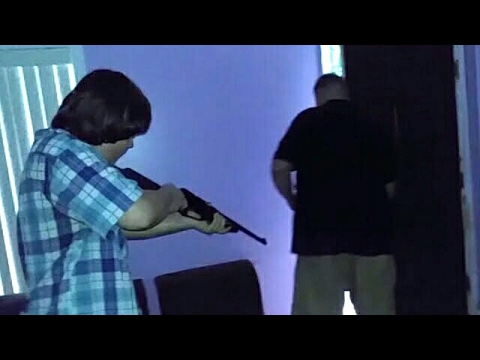 DAD SHOT BY SON IN BUTT OVER XBOX!!!