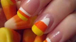 Halloween Nail Art: Candy Corn Nails