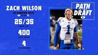 Today marks 6 weeks away from the #nfldraft, so it's time for another spotlight of zach wilson's career as a cougar.here's throwback to @zachkapono1's domi...