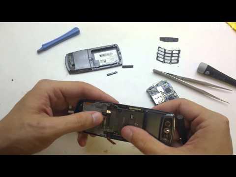 Samsung L760 - wymiana taśmy flex i wyświetlacza LCD - disassembly - repair