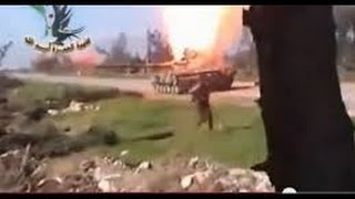 Syria: Blow Up Tanks, Throwing A Grenade Into The Gun Barrel !