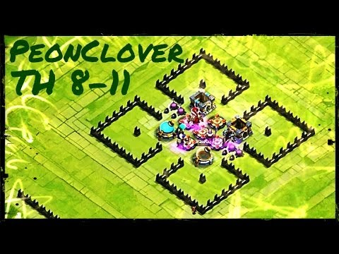 Townhall 8 9 10 11 here be monsters castle clash youtube