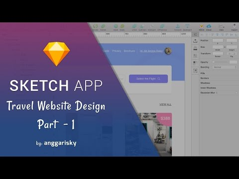 Travel Website Design | Sketch App Tutorial | Part 1