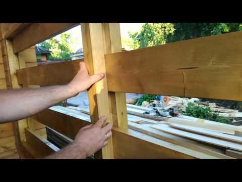Перила для крыльца из дерева своими руками