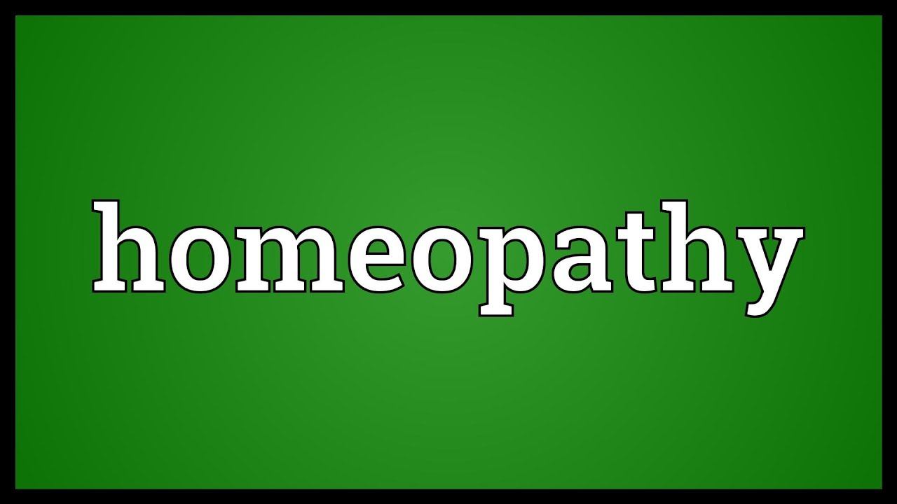 Homeopathy Meaning