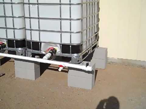 Rainwater Harvesting Using Ibc Tote System Youtube