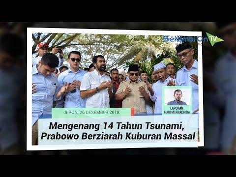 Mengenang 14 Tahun Tsunami, Prabowo Berziarah Kuburan Massal di Siron, Aceh Besar