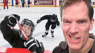 🏒🥅 Ice Skate Hockey Soccer???  🥅🏒  -  vlog e186
