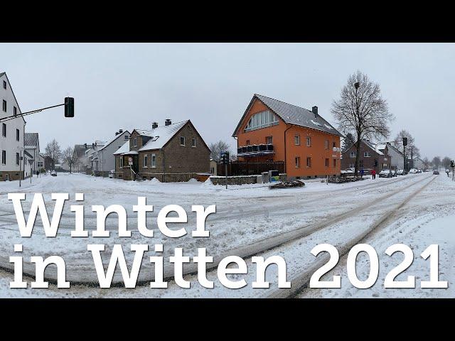 Wintereinbruch in Witten