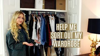 WARDROBE TOUR & CLEAROUT! / Help Me Sort Out My Closet!