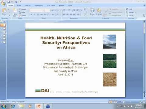 Health, Nutrition and Food Security: Perspectives on Africa