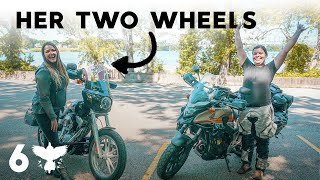 Meeting Her Two Wheels