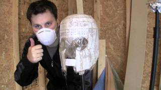 My first Pepakura project - Magneto Helmet Part 7 - Applying Fiber Glass Cloth