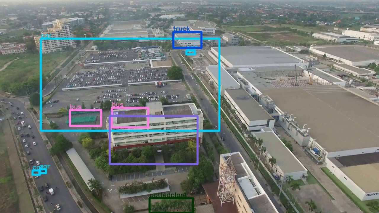 Initial Test of Pre-trained Dataset in Aerial Imagery