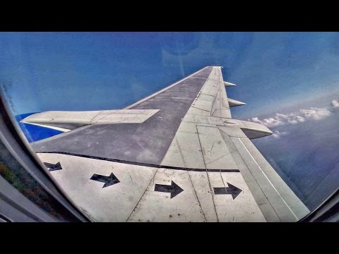 Boeing 737-400 - Classic Wing View Takeoff @ LCA - AMAZING CLOUDS - GoPro