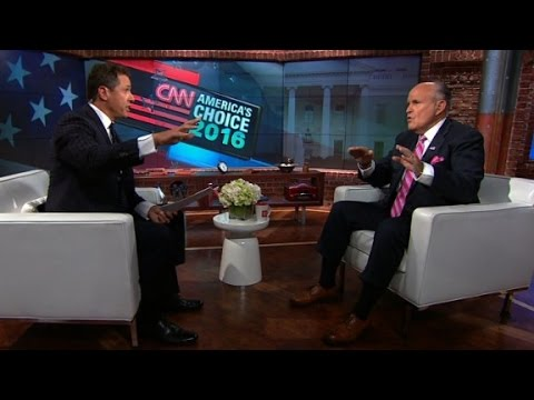 Rudy Giuliani argues with Chris Cuomo while defending Trump