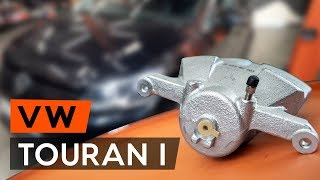 How to replace Brake caliper on VW TOURAN (1T3) - video tutorial