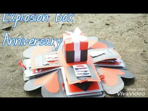 Explosion Box Anniversary Handmade Bisa Untuk Hadiah Anniversary