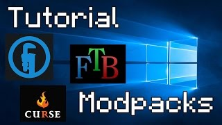 Tutorial como instalar Modpacks de Minecraft no Windows 10 - Technic Launcher, FTB e Curse
