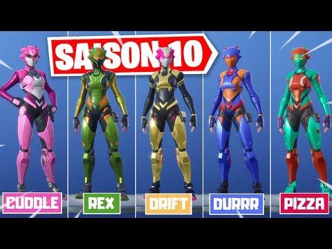 SAISON 10 REPOUSSEE + TROUVER LES CASQUES DU SKIN SECRET SAISON 9 SUR FORTNITE !
