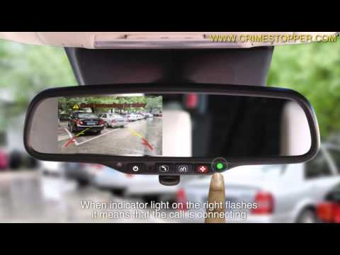 "Master Tailgaters OEM Rear View Mirror with 4.3/"" LCD Screen and Waterproof 170/° Backup Camera Kit CMR-43-A1 Combo"