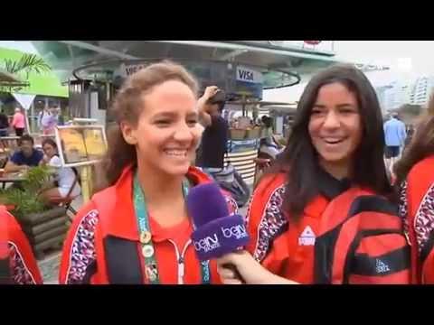 Egyptian ladies synchronized swimming team ... rio 2016