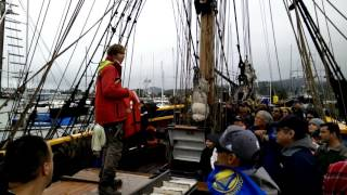 Lady Washington  - On boarding, Safety Talk, Cast Off,  and Harbor Exit