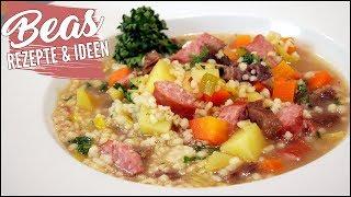 Graupensuppe Rezept   Lecker Hausmannskost - Eintopf kochen mit Rindfleisch