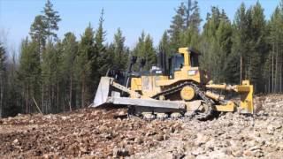 Бульдозера...  Bulldozer Komatsu D155, CAT D10T,