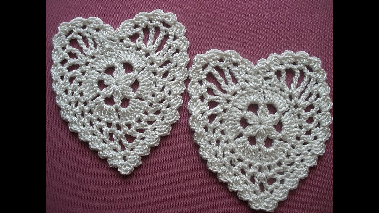 Crochet Heart.Tutorial. Step by step. - YouTube